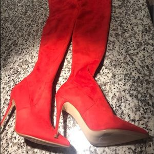 Steve Madden over the knee suede boots